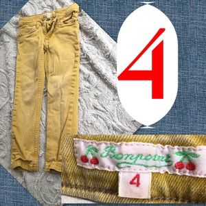Sz 4 Mustard Girls Jeans
